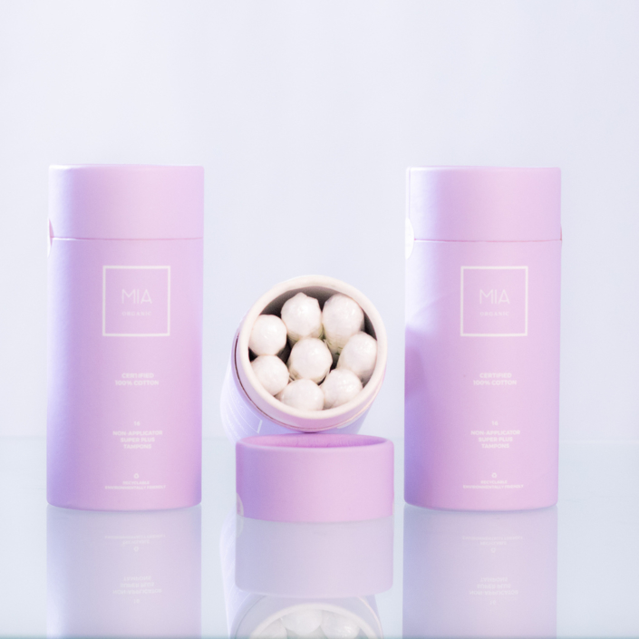 Your period made simpler MIA Organic tampons